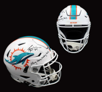 """Ricky Williams Signed Dolphins Full-Size Authentic On-Field SpeedFlex Helmet Inscribed """"Hitting Holes, Smoking Bowls"""" (Radtke COA) at PristineAuction.com"""