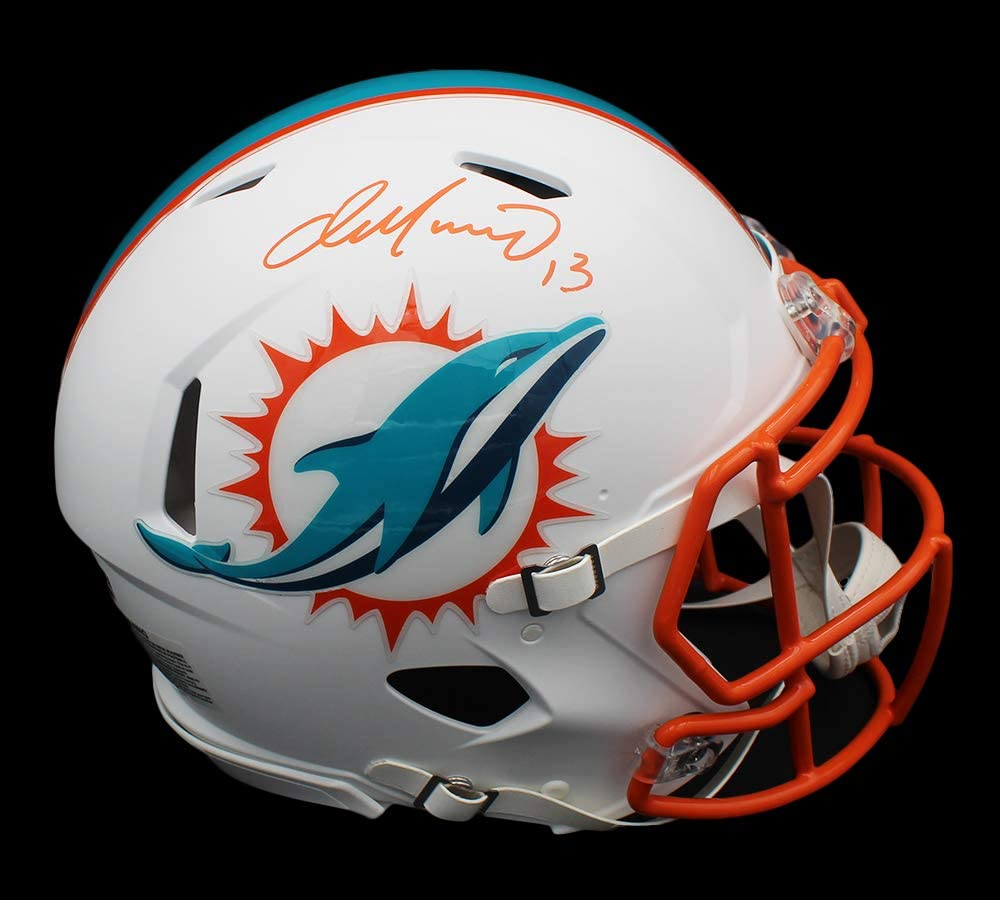 Dan Marino Signed Dolphins Full-Size Authentic On-Field Matte White Speed Helmet (Fanatics Hologram) at PristineAuction.com