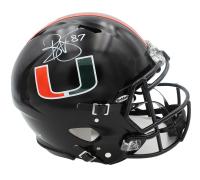 Reggie Wayne Signed Miami Hurricane Full-Size Authentic On-Field Speed Helmet (Radtke COA) at PristineAuction.com