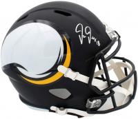 Justin Jefferson Signed Vikings Full-Size AMP Alternate Speed Helmet (Beckett COA, Radtke Hologram & TSE Hologram) at PristineAuction.com