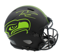 Russell Wilson Signed Seahawks Full-Size Authentic On-Field Eclipse Alternate Helmet (Mill Creek Sports COA) at PristineAuction.com