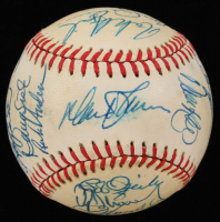 1986 Mets Greats ONL Baseball Signed by (29) with Gary Carter, Dwight Gooden, Keith Hernandez, Darryl Strawberry (Beckett LOA) at PristineAuction.com