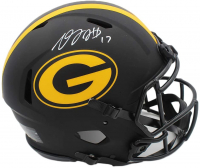 Davante Adams Signed Packers Full-Size Authentic On-Field Eclipse Alternate Speed Helmet (Radtke COA) at PristineAuction.com