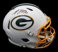 Davante Adams Signed Packers Full-Size Authentic On-Field Matte White Speed Helmet (Radtke COA) at PristineAuction.com