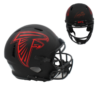 Tony Gonzalez Signed Falcons Full-Size Authentic On-Field Eclipse Alternate Speed Helmet (Radtke COA) at PristineAuction.com
