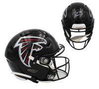 Tony Gonzalez Signed Falcons Full-Size Authentic On-Field SpeedFlex Helmet (Radtke COA) at PristineAuction.com