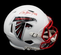 Tony Gonzalez Signed Falcons Full-Size Authentic On-Field Matte White Speed Helmet (Radtke COA) at PristineAuction.com