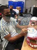 Tony Gonzalez Signed Falcons Full-Size Authentic On-Field Matte White Speed Helmet (Radtke COA) at PristineAuction.com