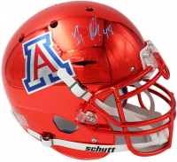Rob Gronkowski Signed Arizona Wildcats Full-Size Authentic On-Field Chrome Helmet (Radtke COA) at PristineAuction.com
