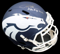 "Terrell Davis Signed Broncos Full-Size AMP Alternate Speed Helmet Inscribed ""Mile High Salute!"" (Radtke COA) at PristineAuction.com"