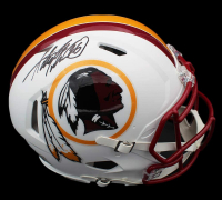 Adrian Peterson Signed Washington Full-Size Matte White Authentic On-Field Speed Helmet (Beckett COA) at PristineAuction.com