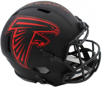"Deion Jones Signed Falcons Full-Size Authentic On-Field Eclipse Alternate Speed Helmet Inscribed ""I Knocked Out Cam!"" (Radtke COA) at PristineAuction.com"