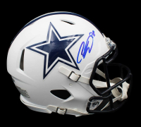 CeeDee Lamb Signed Cowboys Full-Size Authentic On-Field Matte White Speed Helmet (Fanatics Hologram) at PristineAuction.com