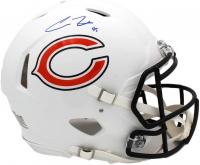 Cole Kmet Signed Bears Full-Size Authentic On-Field Matte White Speed Helmet (Radtke COA) at PristineAuction.com