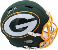 Aaron Jones Signed Packers Full-Size AMP Alternate Speed Helmet (Radtke COA) at PristineAuction.com