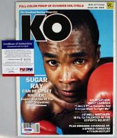 Sugar Ray Leonard Signed 1987 Knockout Boxing Magazine (PSA COA) at PristineAuction.com