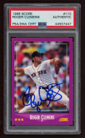 Roger Clemens Signed 1988 Score #110 (PSA Encapsulated) at PristineAuction.com