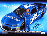 Kyle Larson Signed Nascar 8x10 Photo Card (JSA COA) at PristineAuction.com