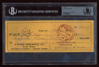 Rosalynn Carter Signed Personal Bank Check (BGS Encapsulated) at PristineAuction.com