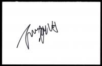 Joanne Froggatt Signed 4x6 Index Card (JSA COA) at PristineAuction.com