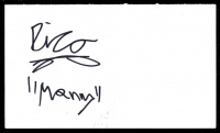"Rico Rodriguez Signed 3.5x6 Index Card Inscribed ""Manny"" (JSA COA) at PristineAuction.com"