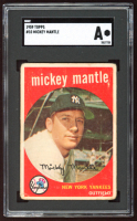 Mickey Mantle 1959 Topps #10 (SGC Authentic) at PristineAuction.com