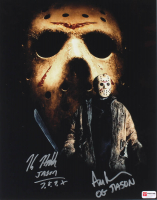 "Ari Lehman & Kane Hodder Signed ""Friday the 13th"" 11x14 Photo Inscribed ""OG Jason"" & ""Jason 7, 8, 9, X"" (PA COA) at PristineAuction.com"