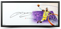 "LeBron James Signed Lakers ""The Show"" 20x46 Custom Framed Lithograph (UDA COA) at PristineAuction.com"