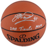 "Dirk Nowitzki Signed NBA Basketball Inscribed ""2011 Finals MVP"" (Fanatics Hologram) at PristineAuction.com"
