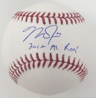 "Mike Trout Signed OML Baseball Inscribed ""2012 AL ROY"" (MLB Hologram) at PristineAuction.com"