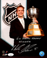 """Nicklas Lidstrom Signed Red Wings 8x10 Photo Inscribed """"6x Norris Trophy Winner"""" (JSA COA) at PristineAuction.com"""