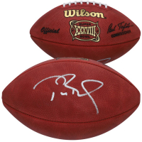 Tom Brady Signed Super Bowl XXXVIII Logo Football (Fanatics Hologram) at PristineAuction.com