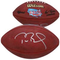 Tom Brady Signed Super Bowl XXXVI Logo Football (Fanatics Hologram) at PristineAuction.com