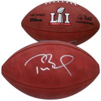 """Tom Brady Signed """"The Duke"""" Super Bowl LI Official NFL Game Ball (Fanatics Hologram) at PristineAuction.com"""