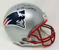"Tom Brady Signed Patriots Full-Size Authentic On-Field Helmet Inscribed ""6x SB Champs"" (Fanatics Hologram) at PristineAuction.com"