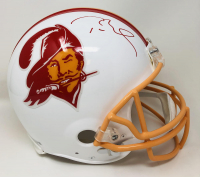 Tom Brady Signed Buccaneers Throwback Full-Size Authentic On-Field Helmet (Fanatics Hologram) at PristineAuction.com