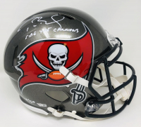 "Tom Brady Signed LE Buccaneers Full-Size Authentic On-Field Speed Helmet Inscribed ""Fire the Cannons"" (Fanatics Hologram) at PristineAuction.com"