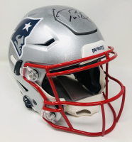 Tom Brady Signed Patriots Full-Size Authentic On-Field SpeedFlex Helmet (Fanatics Hologram) at PristineAuction.com