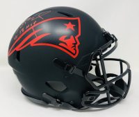 "Tom Brady Signed Patriots Full-Size Authentic On-Field Eclipse Alternate Speed Helmet Inscribed ""4x SB MVP"" (Fanatics Hologram) at PristineAuction.com"