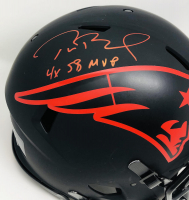 "Tom Brady Signed Patriots Full-Size Authentic On-Field Eclipse Alternate Speed Helmet Inscribed ""4x SB MVP"" (Fanatics Hologram) at PristineAuction.com"