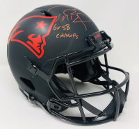 "Tom Brady Signed Patriots Full-Size Authentic On-Field Eclipse Alternate Speed Helmet Inscribed ""6x SB Champs"" (Fanatics Hologram) at PristineAuction.com"