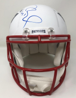 Tom Brady Signed Patriots Full-Size Authentic On-Field Matte White Speed Helmet (Fanatics Hologram) at PristineAuction.com