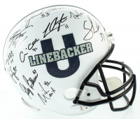 "Penn State Nittany Lions ""Linebacker U"" LE Full-Size Helmet Signed by (10) with Jack Ham, Lavar Arrington, Dan Connor, Sean Lee, Dan Connor, Mike Mauti, Dennis Onkontz (JSA COA) at PristineAuction.com"
