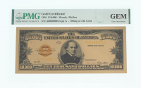 1928 $10,000 Ten Thousand Dollar Gold Certificate (PMG GEM Uncirculated) at PristineAuction.com