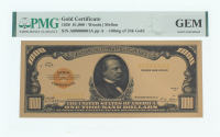$1,000 Thousand Dollar Gold Certificate - 1928 Style (PMG GEM Uncirculated) at PristineAuction.com