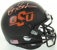 Barry Sanders Signed Oklahoma State Cowboys Mini Helmet (Schwartz COA) at PristineAuction.com