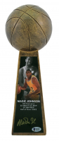 "Magic Johnson Signed 14"" Championship Basketball Trophy (Beckett COA) at PristineAuction.com"