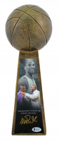"Magic Johnson Signed 14"" Championship Basketball Trophy (Beckett COA) at PristineAuction.com"
