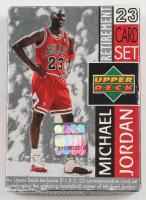 1999 Upper Deck Michael Jordan Retirement Card Box Set with (23) Cards at PristineAuction.com