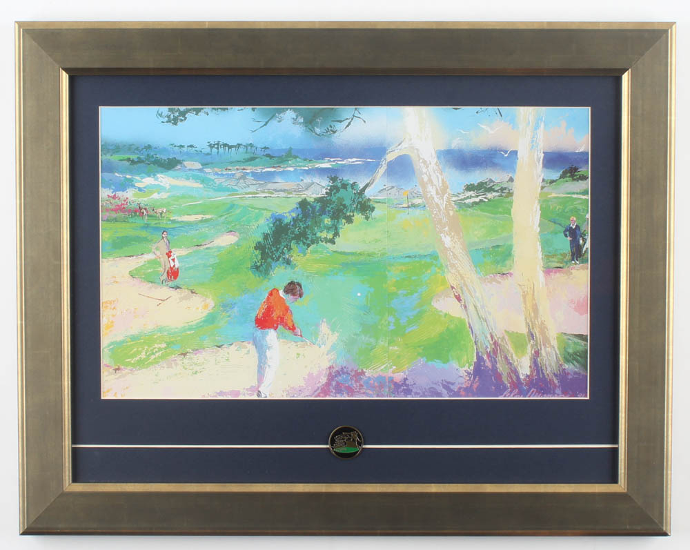 """Leroy Neiman """"Spyglass Hill"""" 14.5x18.5 Custom Framed Print Display With Spyglass Hill Pin at PristineAuction.com"""
